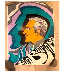VTG 60s Pop Art Poster John Barrymore Poster